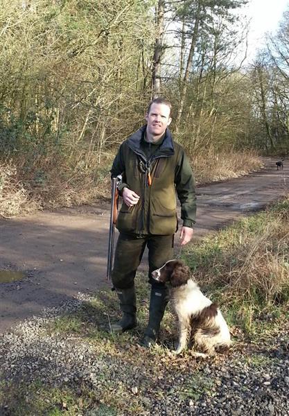 Steve with Spaniel gundog