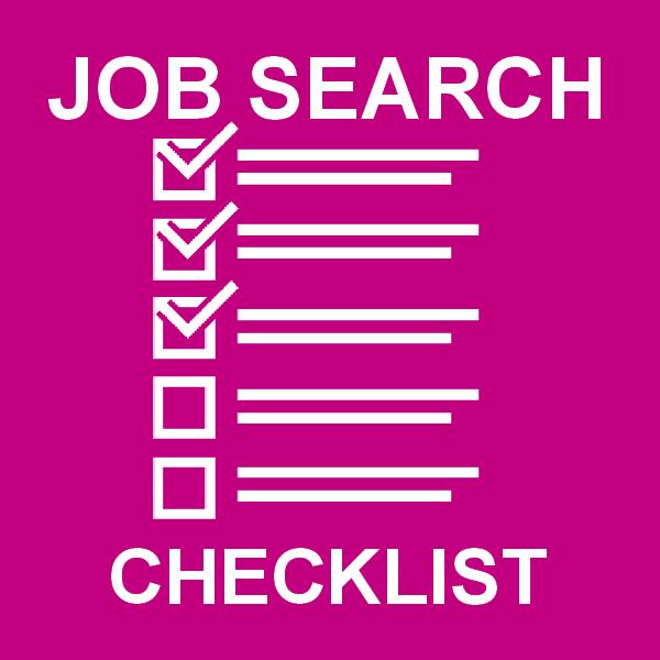 Job Search Checklist - Free download