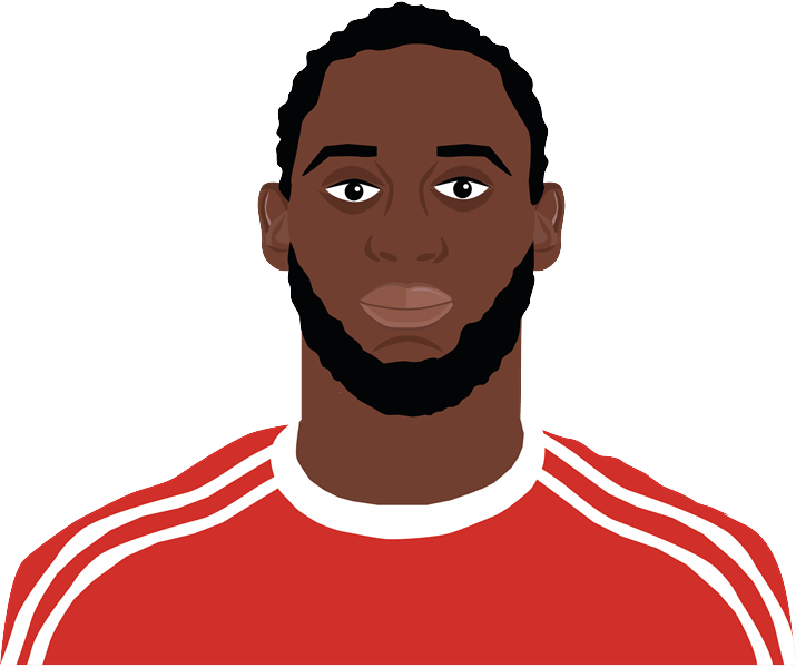 Cartoon of Romelu Lukaku by Aaron Wallis